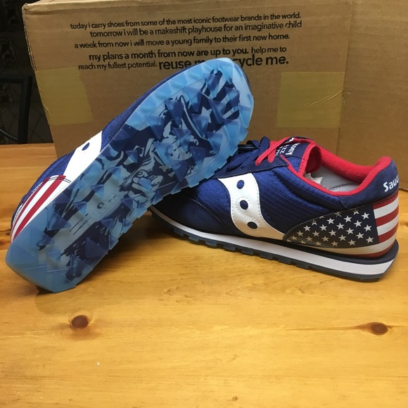 Saucony Jazz Low Pro S70427 2 Stars and Stripes 12 NWT